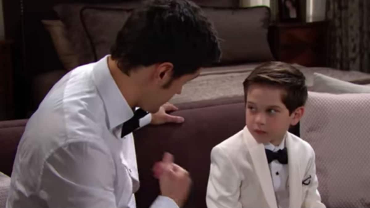 Matthew Atkinson and Henry Joseph Samiri as Thomas and Douglas on The Bold and the Beautiful.