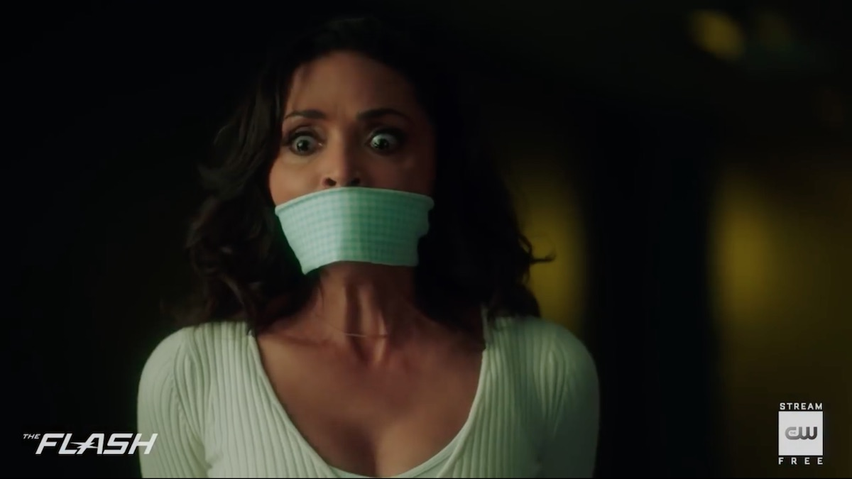 Cecile (Danielle Nicolet) gets captured on The Flash. Pic credit: The CW