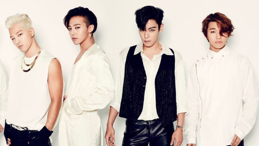Big Bang posing as four members