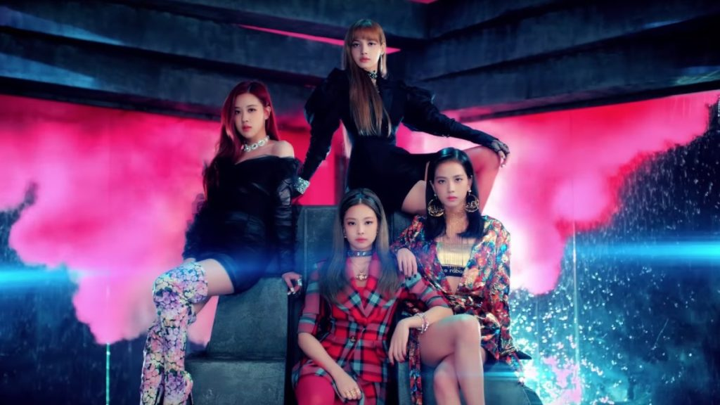 Blackpink on throne in Ddu-Du Ddu-Du-Du