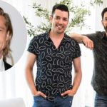 Brad Pitt and Drew and Jonathan Scott
