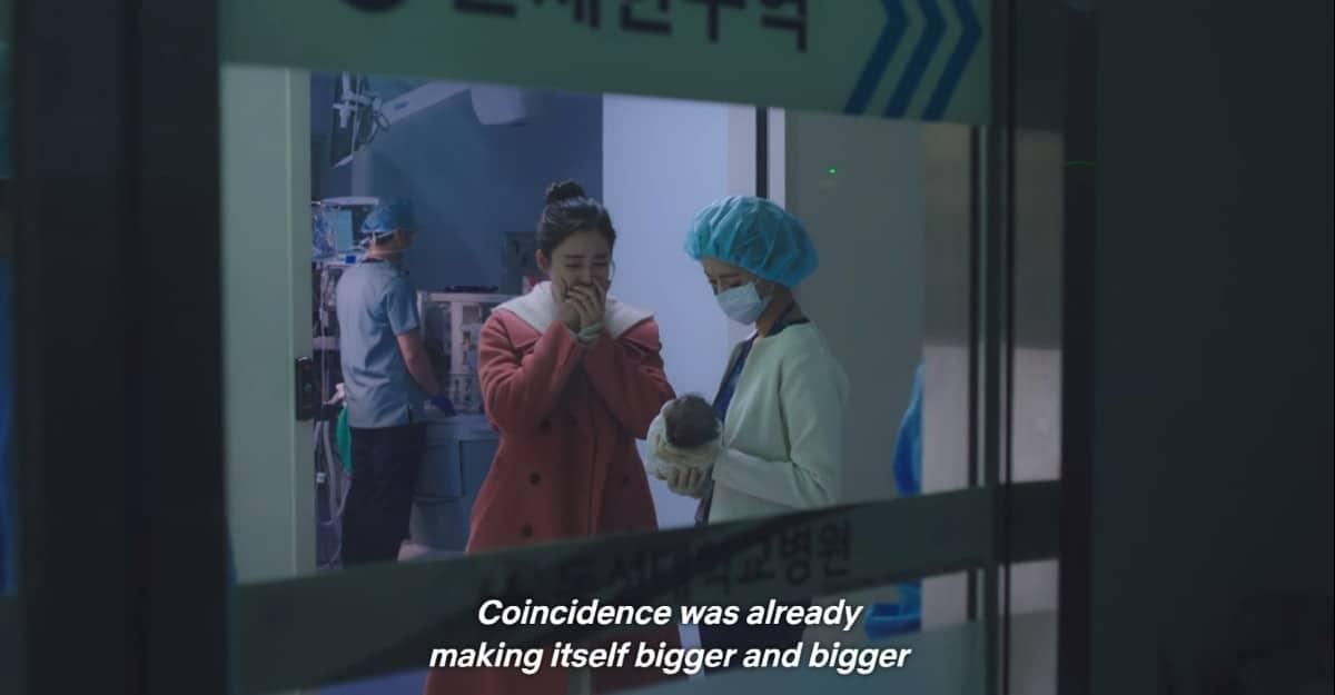 Oh Min-Jung and Cha Yu-Ri at Jo Seo-Woo's birth