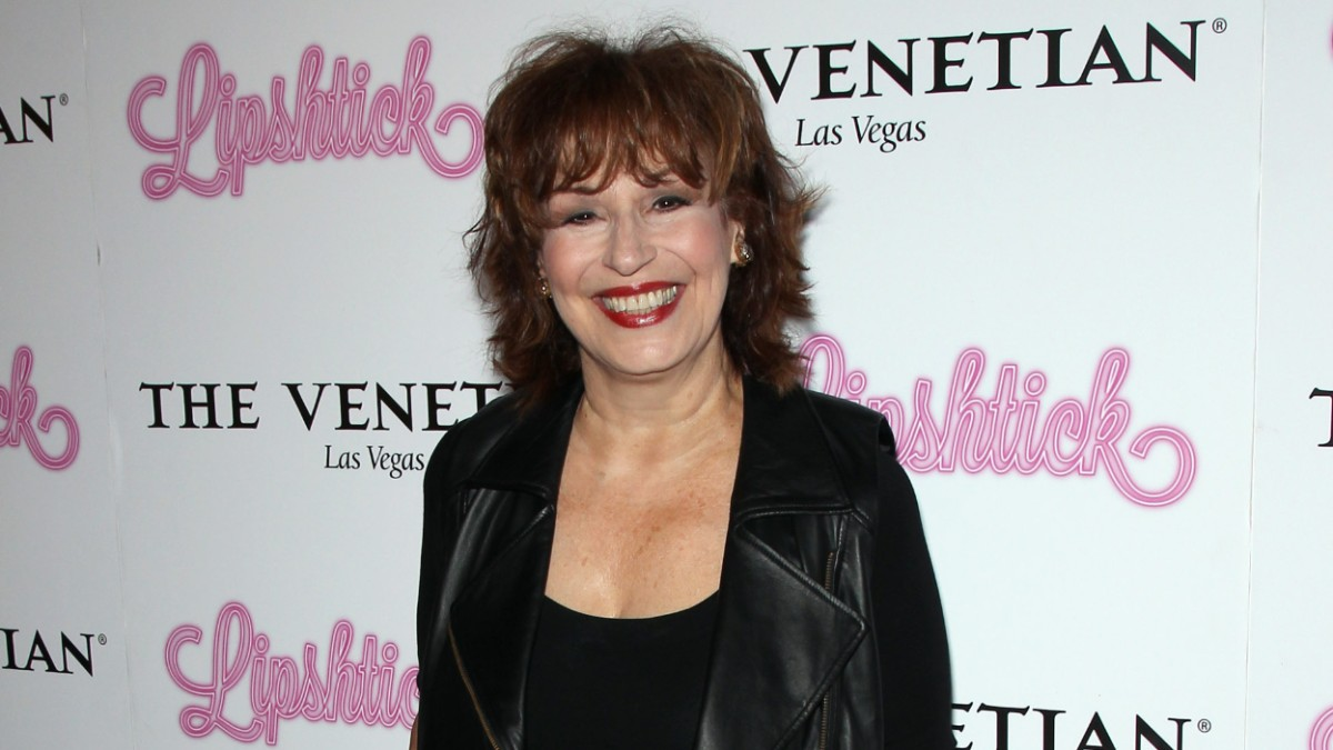 Joy Behar on the red carpet