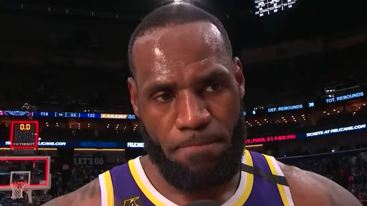 lebron james after lakers beat pelicans