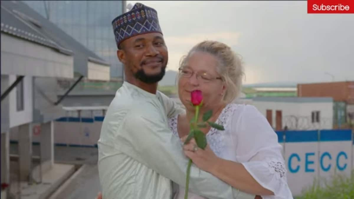 Lisa and Usman shortly after they met at the airport