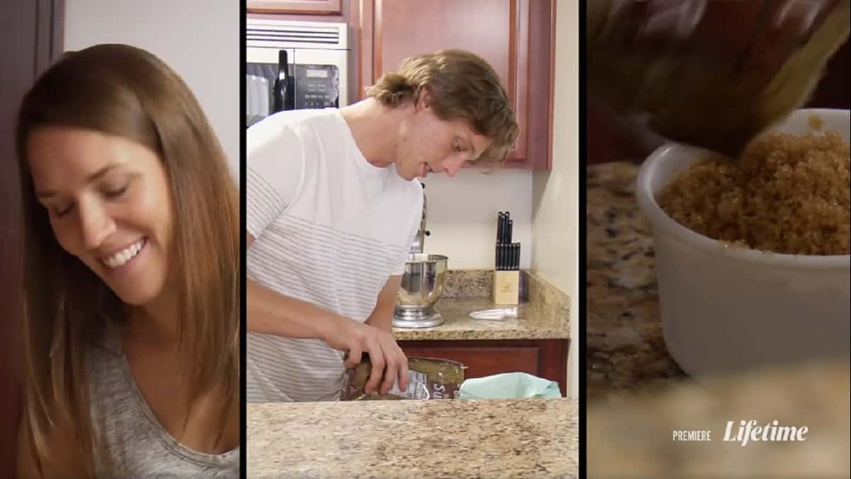Married at First Sight couple Jessica and Austin bake together
