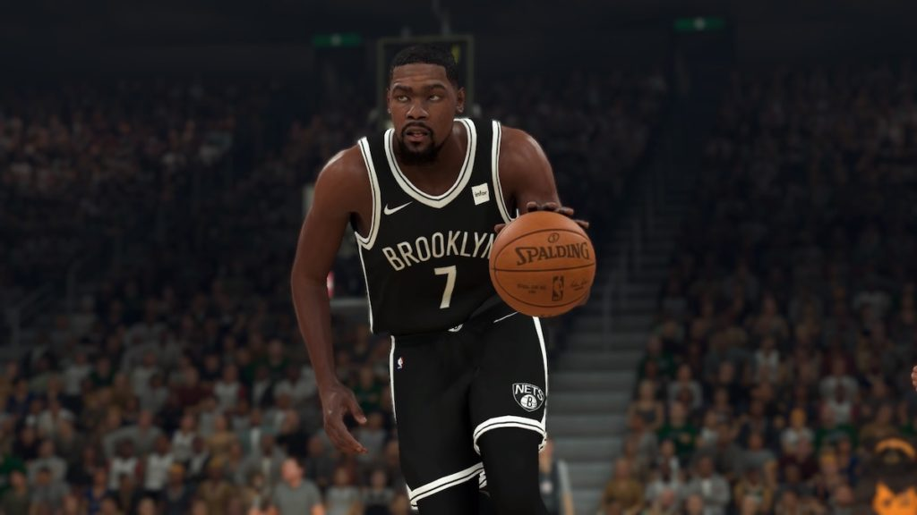 kevin durant in nba 2k20 game