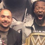 peter rosenberg with wwe star kofi kingston