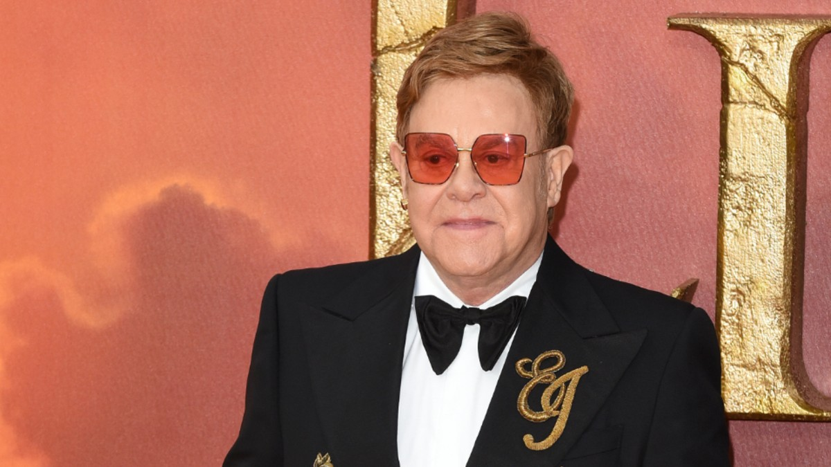 Elton John on the red carpet