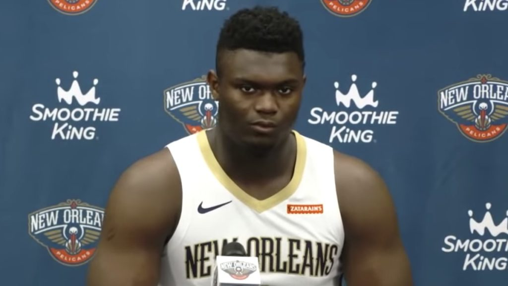 new orleans pelicans rookie zion williamson