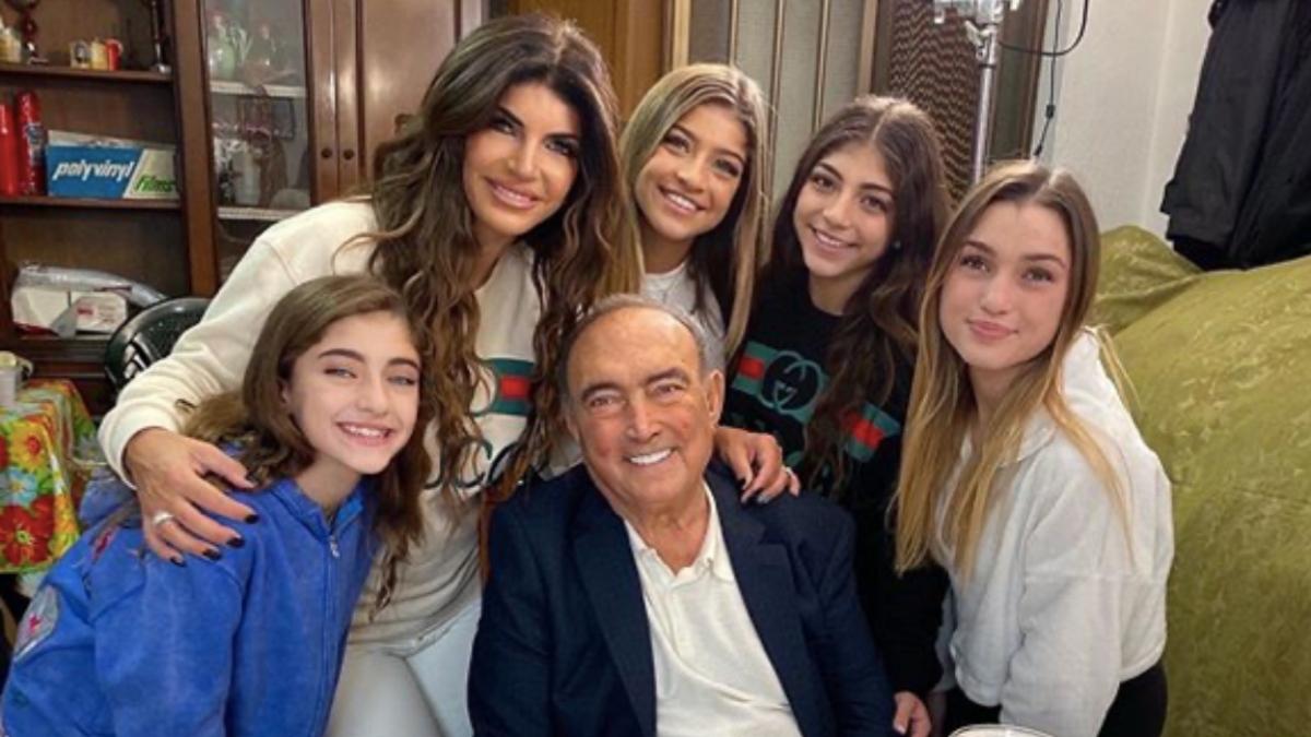 Teresa Giudice, her father Giacinto Gorga, and her daughters