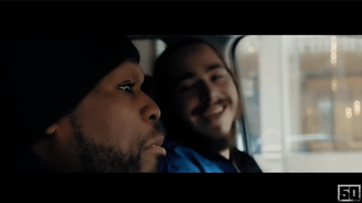 50 Cent and Post Malone in a video