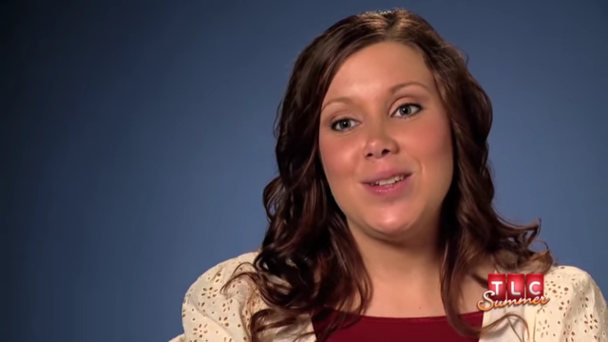 Anna Duggar during a 19 Kids and Counting confessional.