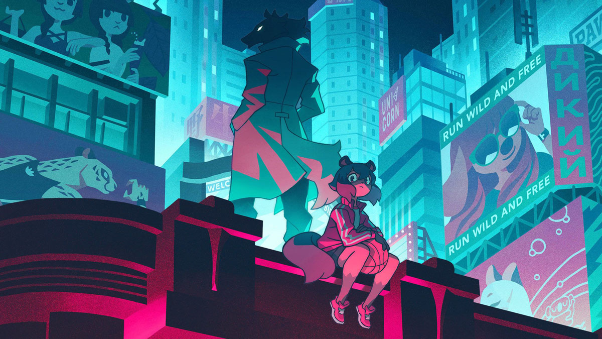 Michiru Kagemori and Shirou Ogami in the BNA anime