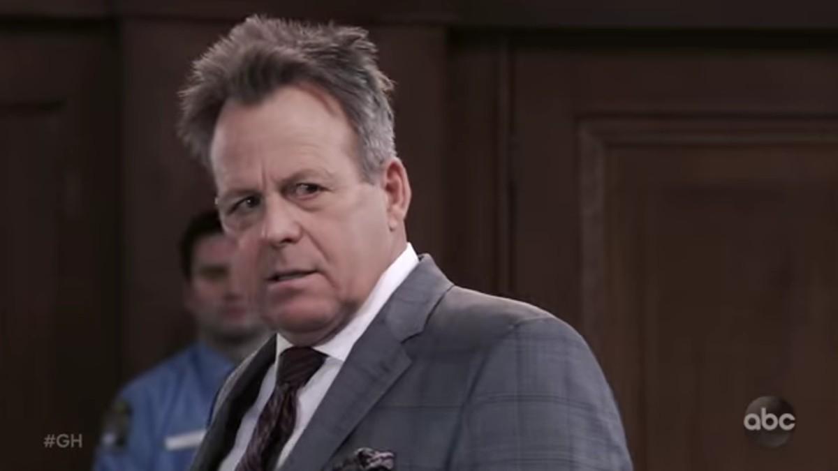 Kin Shriner as Scott Baldwin on General Hospital.
