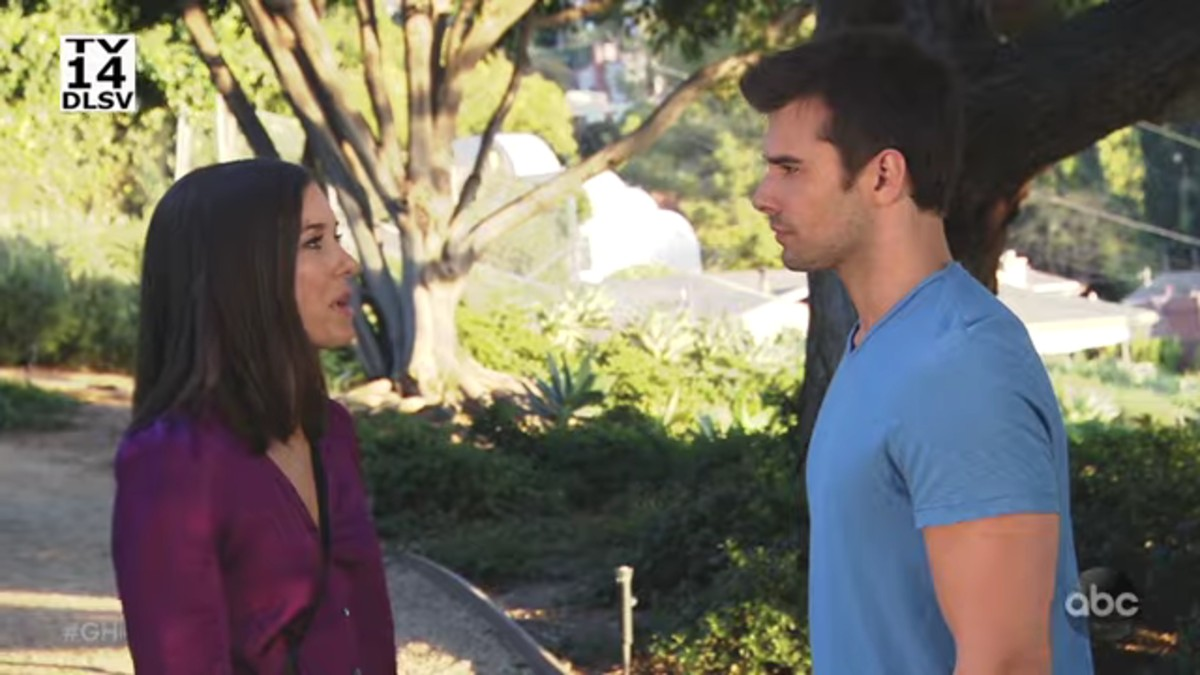 Katelyn MacMullen and Josh Swickard as Willow and Chase on General Hospital.