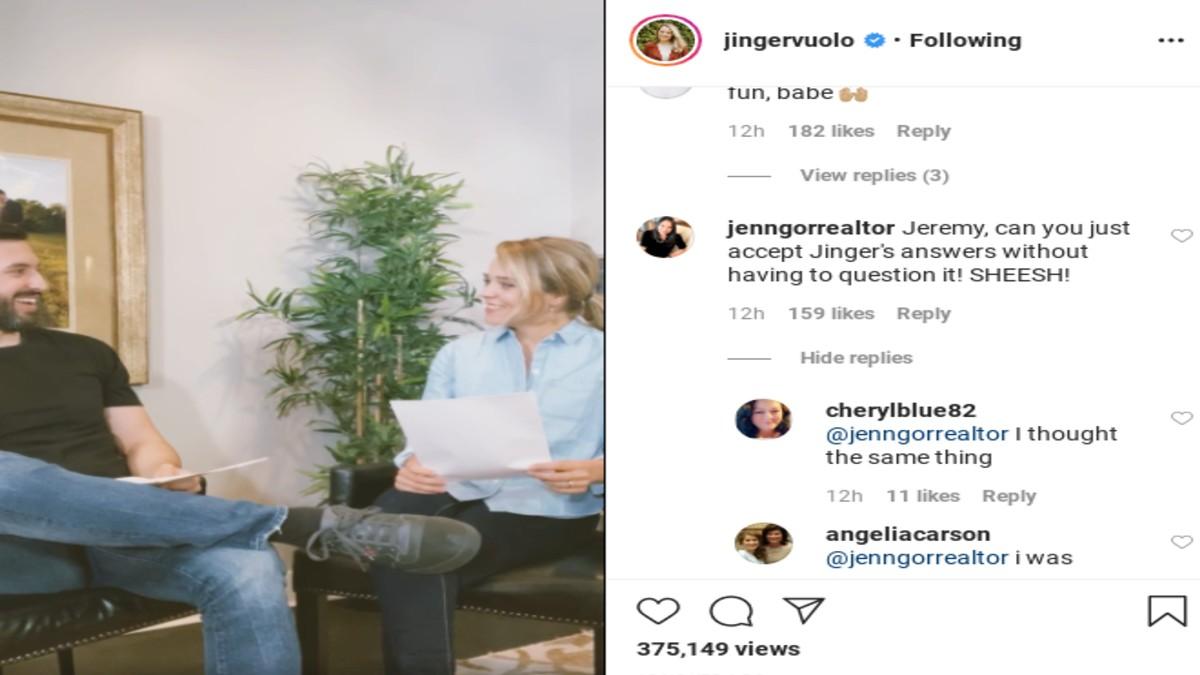Jinger Duggar's followers comment on her video.