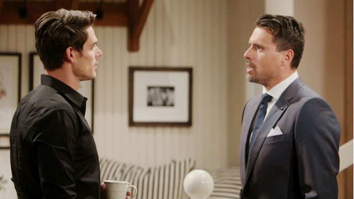 Tension mounts among the Newman men on The Young and the Restless.