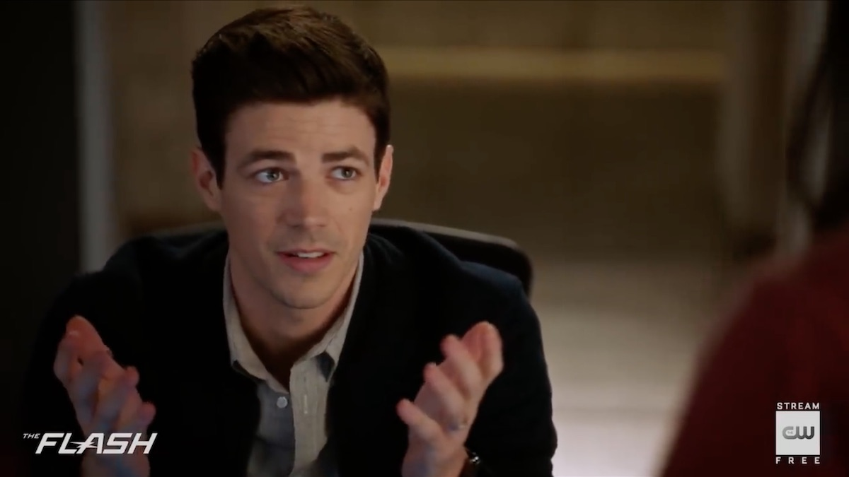 Grant Gustin will return as Barry Allen in The Flash on April 21.