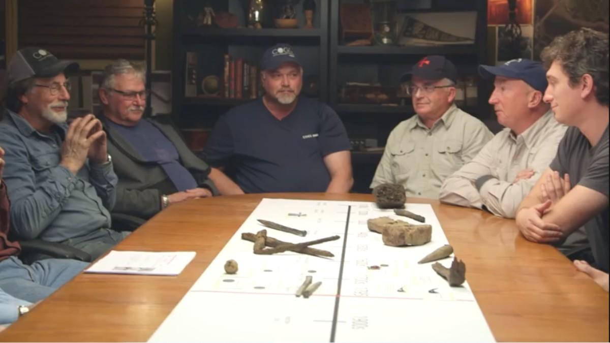 The Oak Island team in the War Room