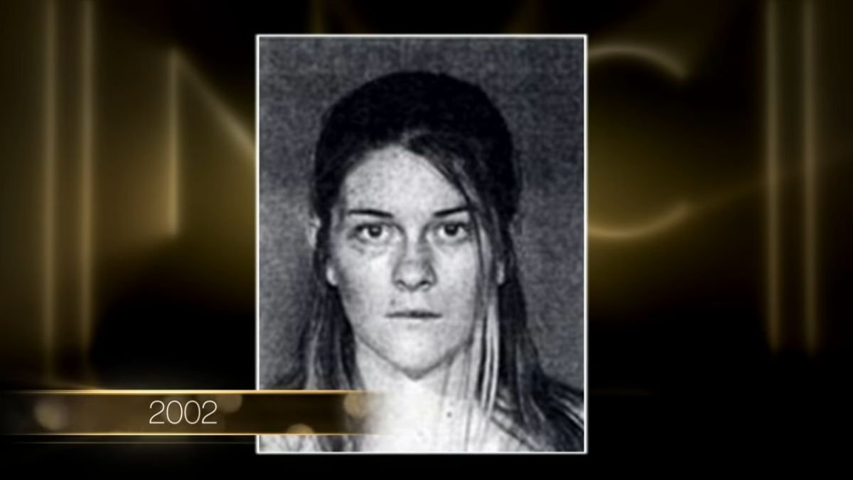Leah McSweeney is pictured in a mugshot from her 2002 arrest