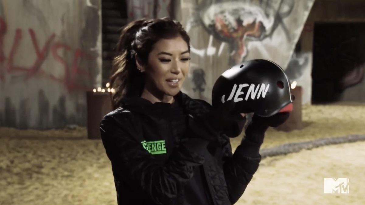 jenn lee reacts after her challenge elimination