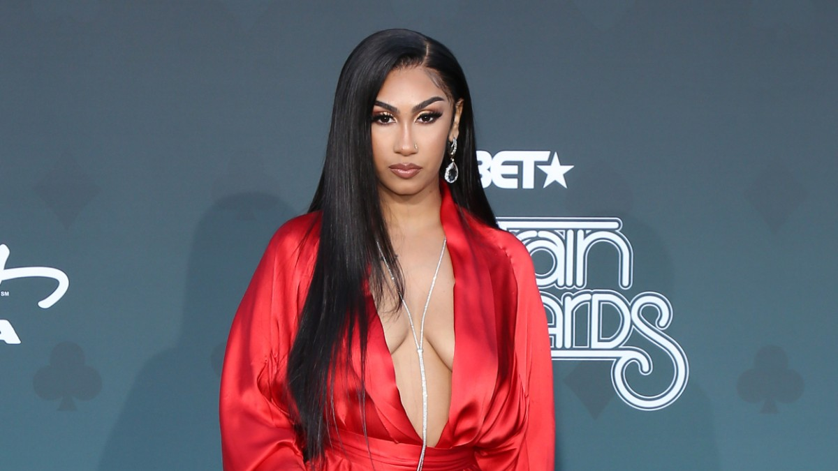 Queen Naija on the red carpet