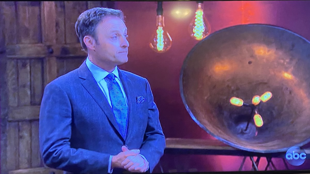 Chris Harrison conducts the rose ceremony on Episode 2 of The Bachelor Presents: Listen to Your Heart