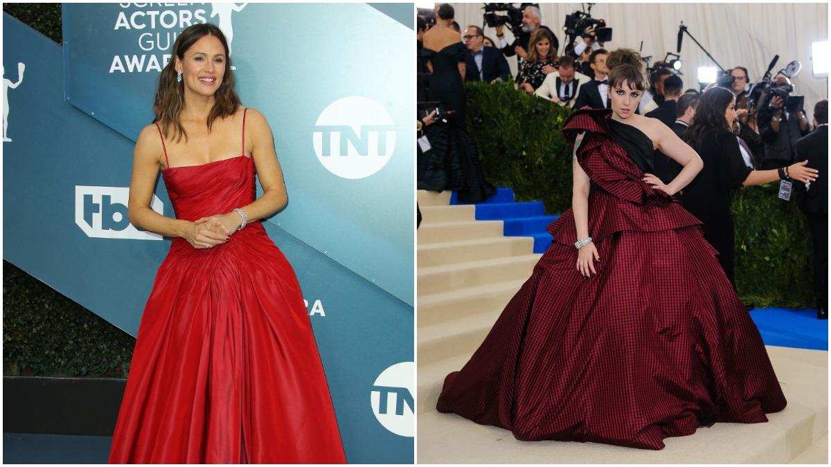 Lena Dunham and Jennifer Garner on the red carpet