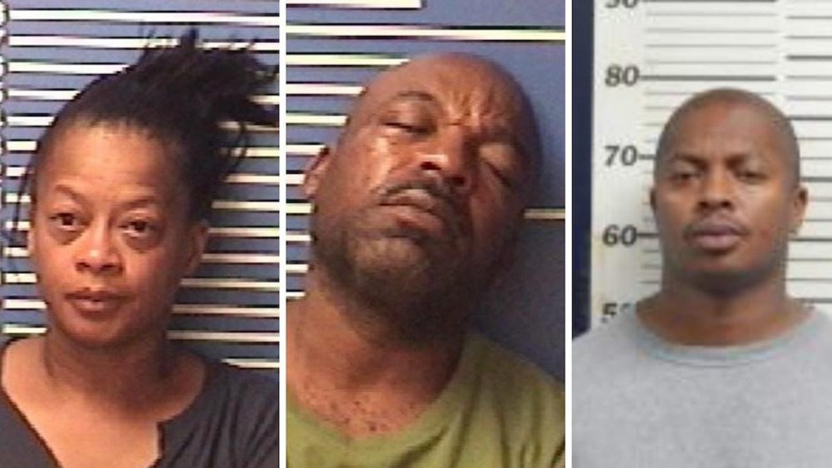 Mugshots of Ronnie Robinson and Larenzle and Elsie Coleman