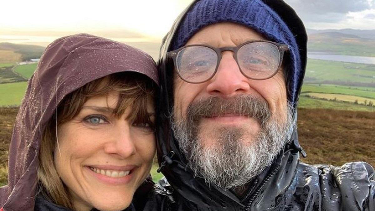 Actor Marc Maron and Lynn Shelton
