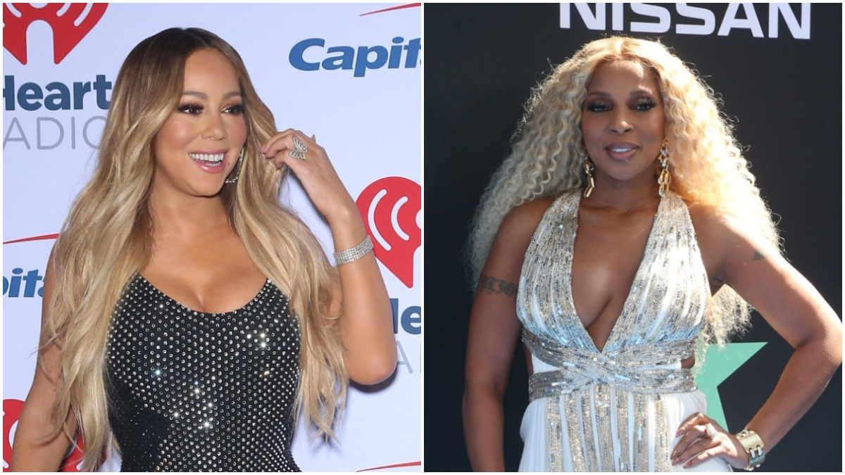 Mariah Carey and Mary J Blige on the red carpet