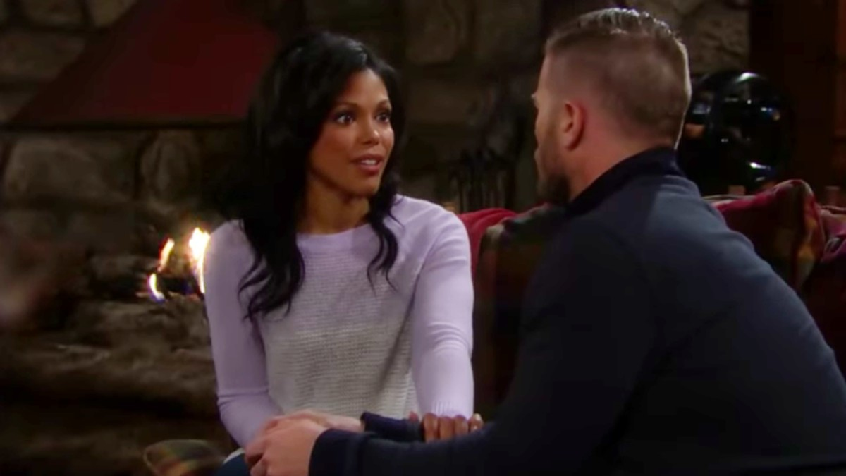 Jacob Young and Kara Mosley as Rick and Maya on The Bold and the Beautiful.
