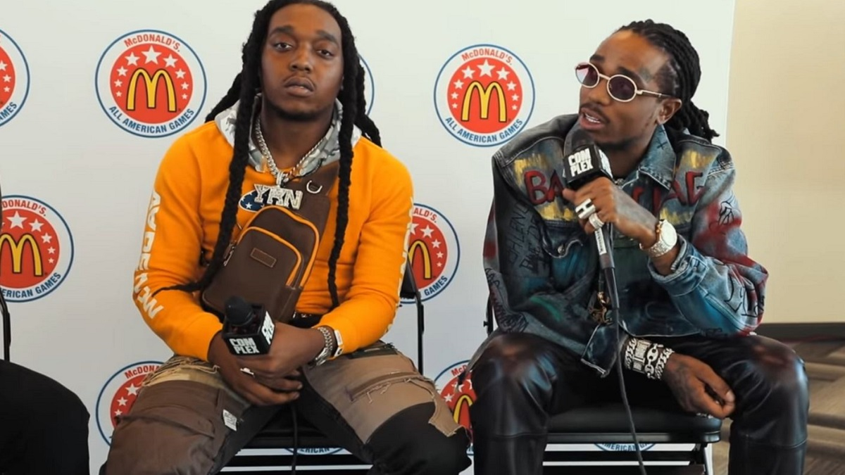 Rappers Quavo and Takeoff