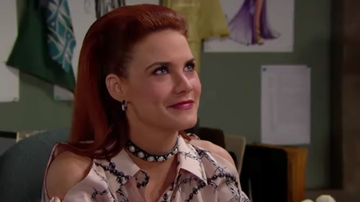 Courtney Hope as Sally Spectra on The Bold and the Beautiful.