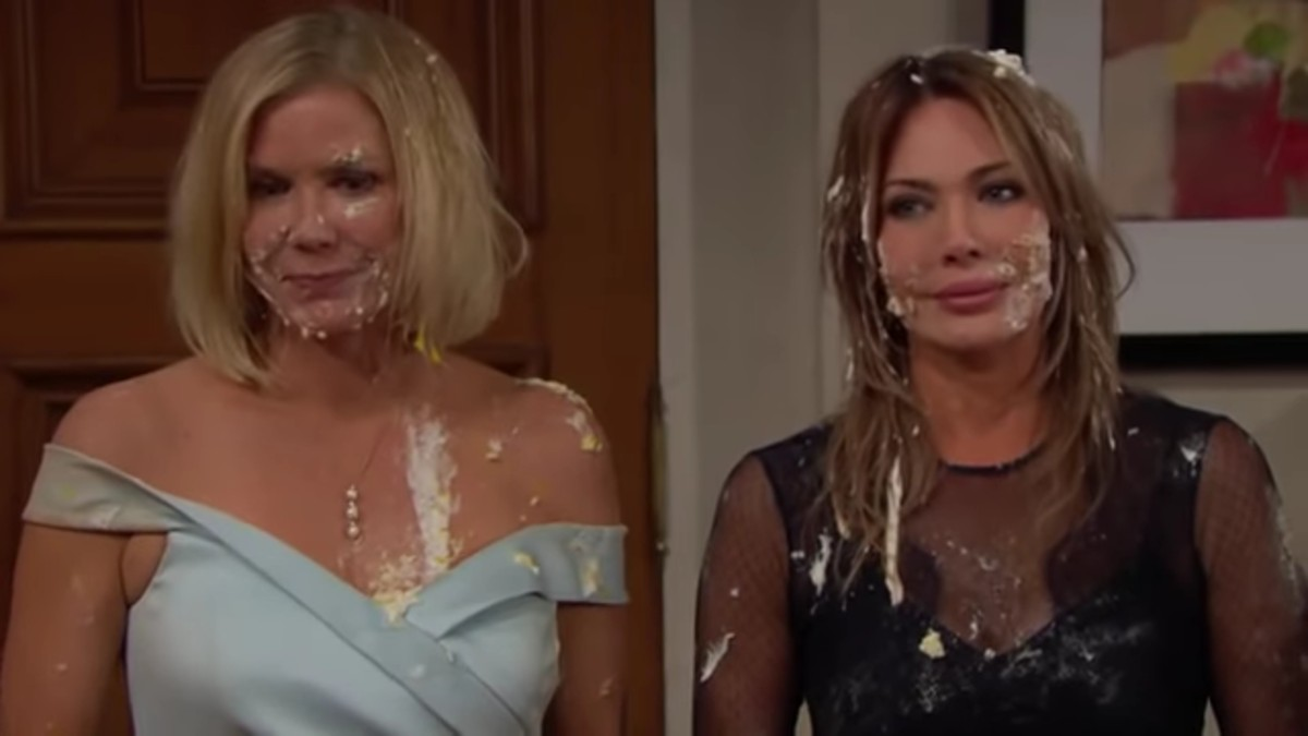 Katherine Kelly Lang and Hunter Tylo as Brooke and Taylor on The Bold and the Beautiful.