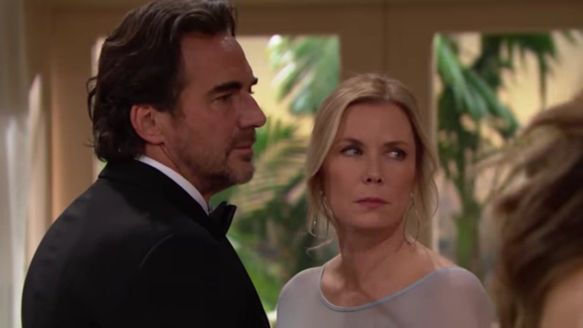 Thorsten Kaye and Katherine Kelly Lang as Brooke and Ridge on The Bold and the Beautiful.
