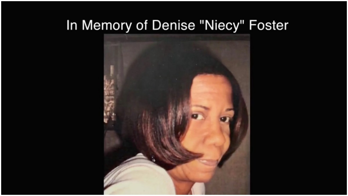Denise 'Niecy' Foster tribute at end of Families of the Mafia episode
