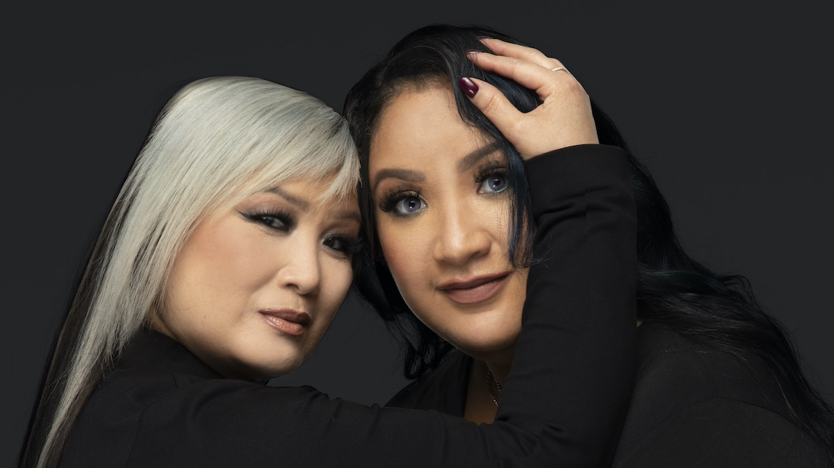 Sunhe and Angelica in a promotional photo for sMothered on TLC