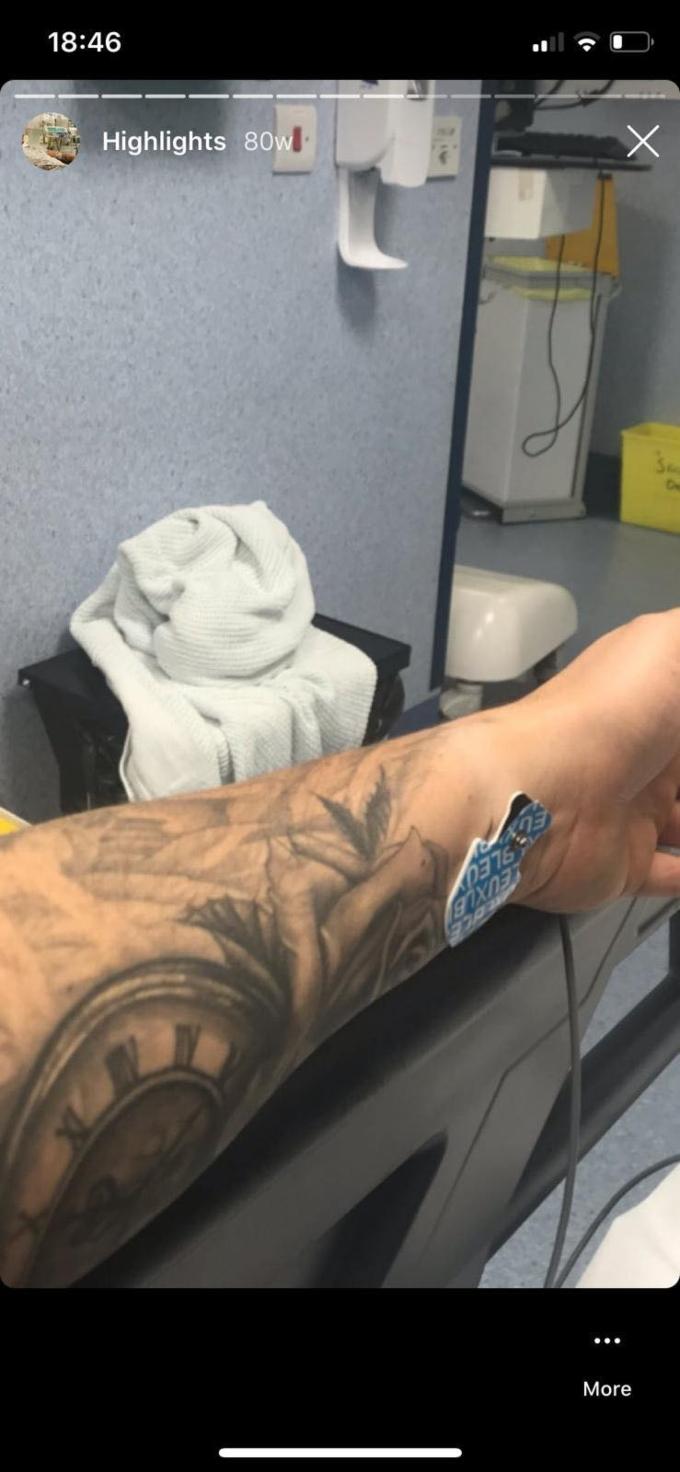 Tom Brooks in hospital