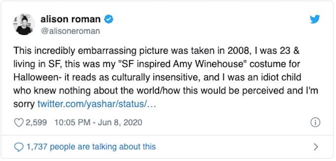 Alison Roman tweet