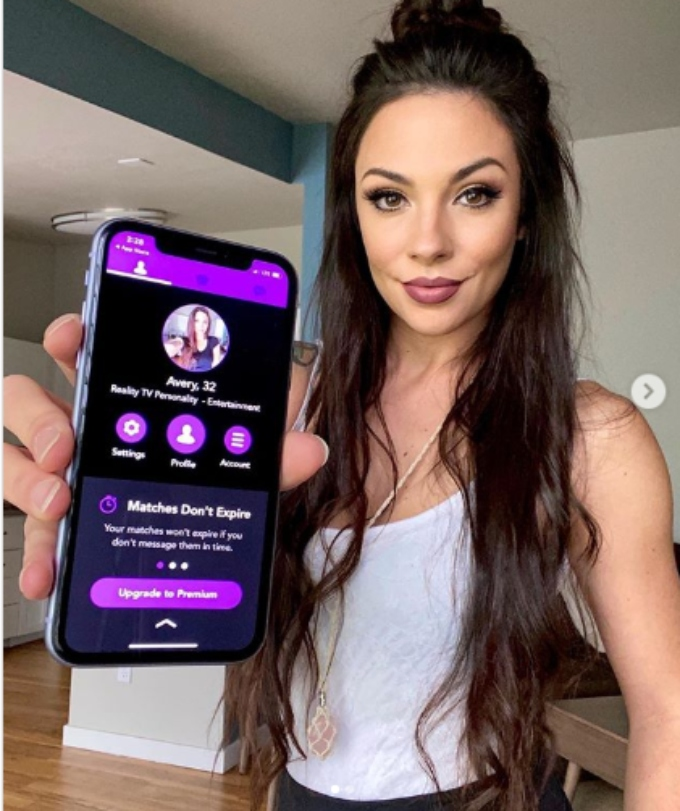 Avery is promoting a new dating app