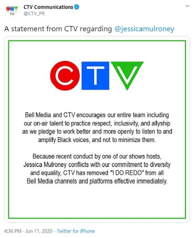 CTV fires Jessica Mulroney