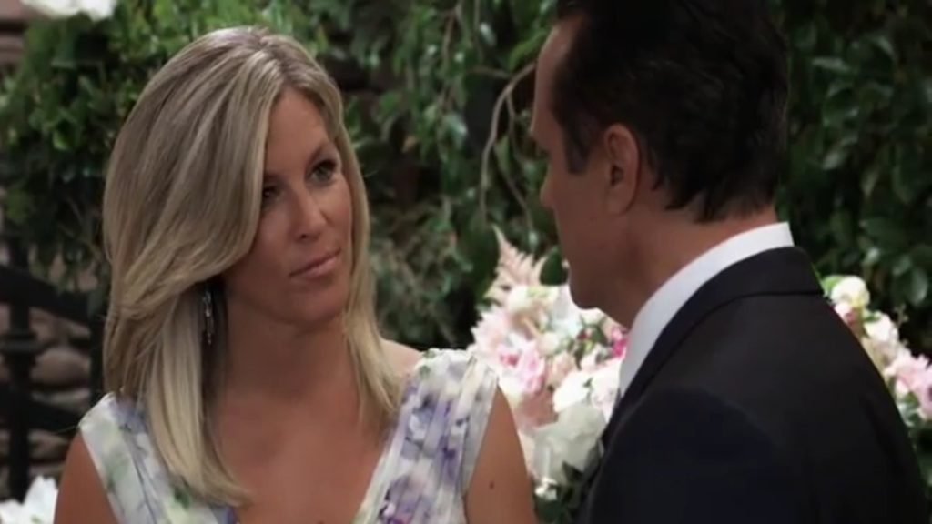 Carly and Sonny on General Hospital.