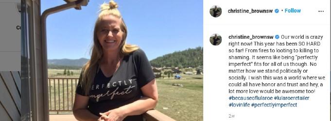 Christine Brown on Instagram.