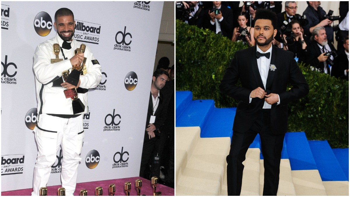 Drake and The Weeknd on the red carpet