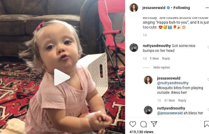 Jessa posted Ivy Jane on Instagram.
