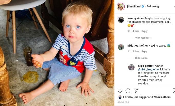 Jill Duggar's Instagram post comments.