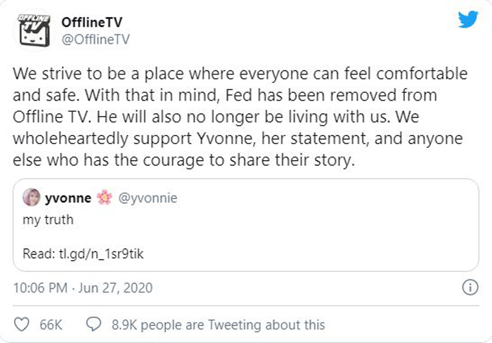 """Fedmyster kicked out of OTV after sexual harassment allegations by Yvonne """"Yvonne"""" Ng on Twitter"""