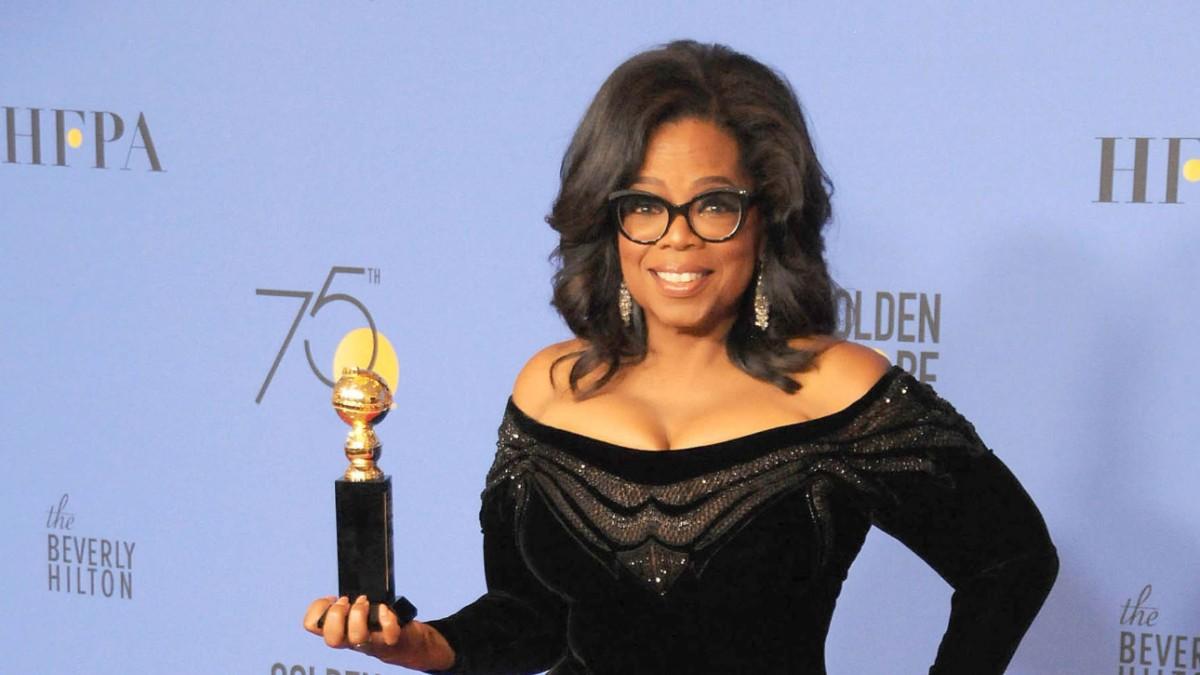 Oprah Winfrey on the red carpet